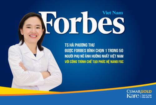 TS Hà Phương Thư được bình chọn là 1 trong 50 người ảnh hưởng nhất Việt Nam