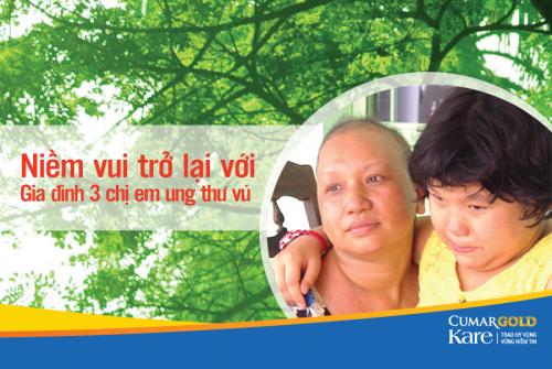 Niềm vui trở lại với gia đình 3 chị em ung thư vú
