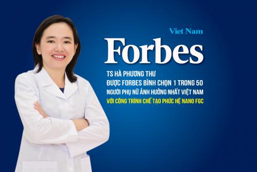 TS Hà Phương Thư được Forbes bình chọn 1 trong 50 người phụ nữ ảnh hưởng nhất Việt Nam với công trình chế tạo CumarGold Kare